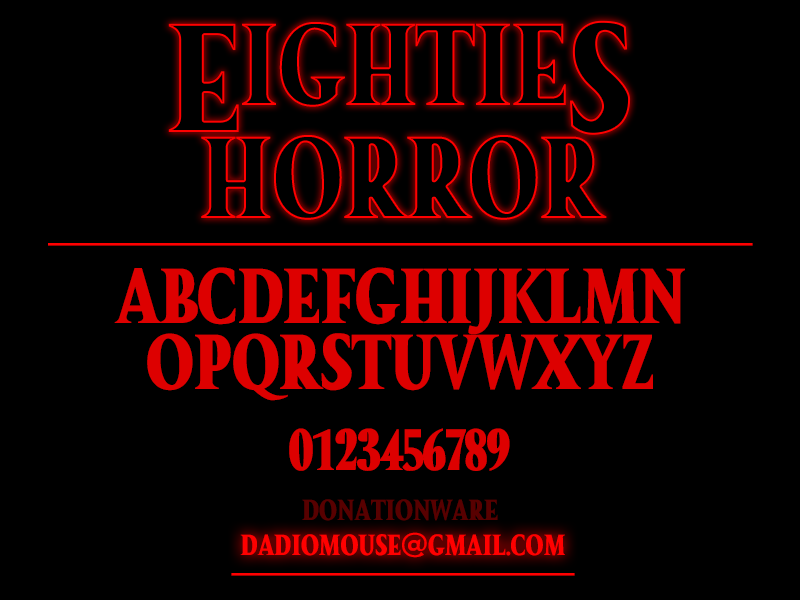 Eighties Horror